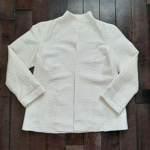 Eileen Fisher Silk Cream Blazer Jacket Size Small